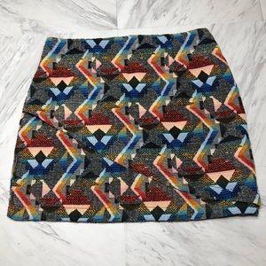 Zara Aztec print skirt